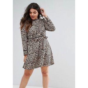 ASOS curve animal print high neck dress 22